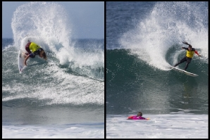 Matt Wilkinson and Tyler Wright, the Winners of Quiksilver Pro Gold Coast