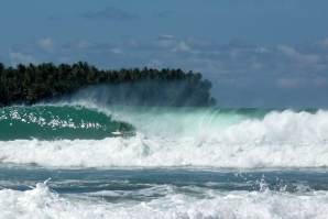 Nias surfer justin buulolo shows his skills in different Nias Swells