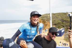 Conlogue claimed victory today at the Rip Curl Women's Pro Bells Beach