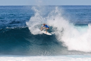 Caption: Sheldon Simkus (AUS) top scoring at Yo-Yo's on Day 1 of the West Sumbawa Pro QS1,000 event. Credit: © WSL / Tim Hain