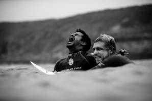 Italo Ferreira and Mick Fanning