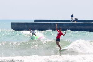 Dean Permana and Daily Valdez Claim Longboard Wins at REnextop Asian Surfing Tour