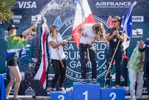 Pauline Ado (FR) has just won the Gold Medal at the 2017 ISA World Surfing Games.