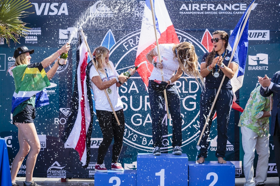 f0d158d854 Pauline Ado (FR) has just won the Gold Medal at the 2017 ISA World Surfing  Games.