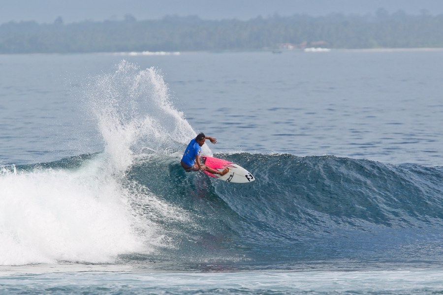 "Nyoman ""Mega"" Artana from Bali, Indonesia, will be hoping for a solid result when he returns to Krui this April. Credit: © WSL /  Tim Hain"