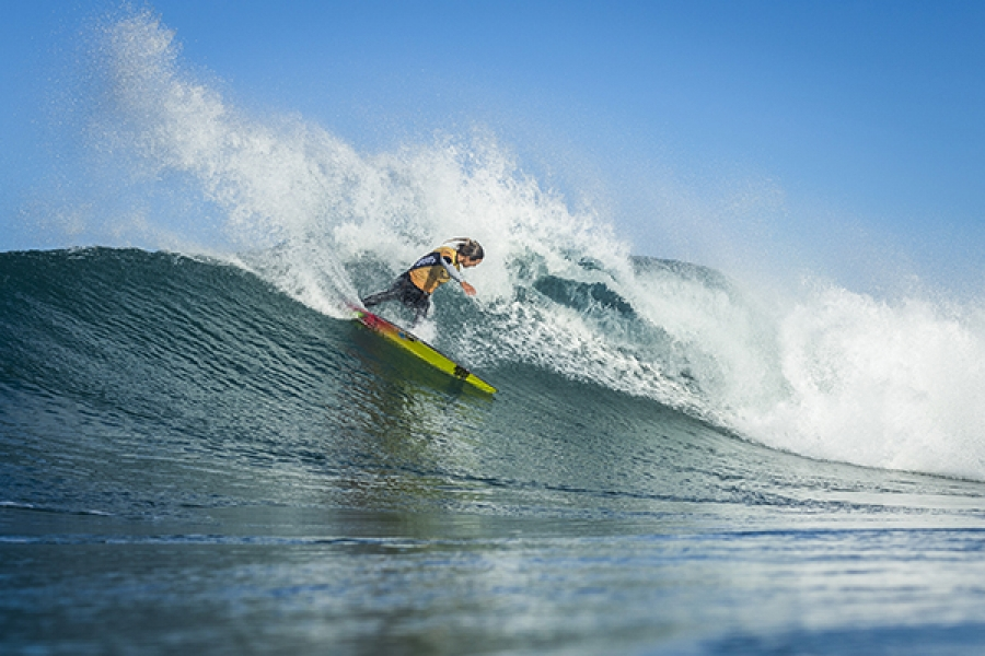 96bad48799 Current World No.1 Sally Fitzgibbons (AUS) continued to perform and advanced  into