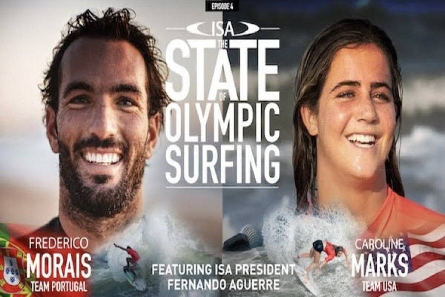 Hoje, 16 horas, State of Olympic Surfing, ISA - Frederico Morais e Caroline Marks