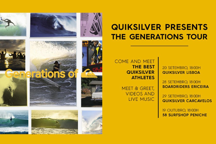 """Generations of Quiksilver Tour"" em Portugal"