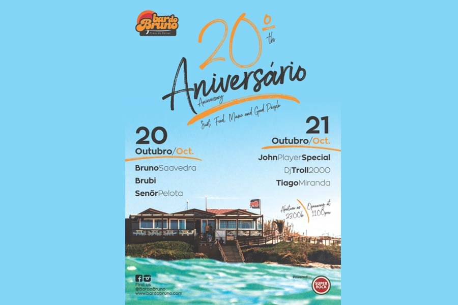 Bar do Bruno celebra 20 anos com festa de arromba!
