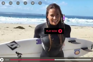 'PADDLING OUT WITH TIA BLANCO'