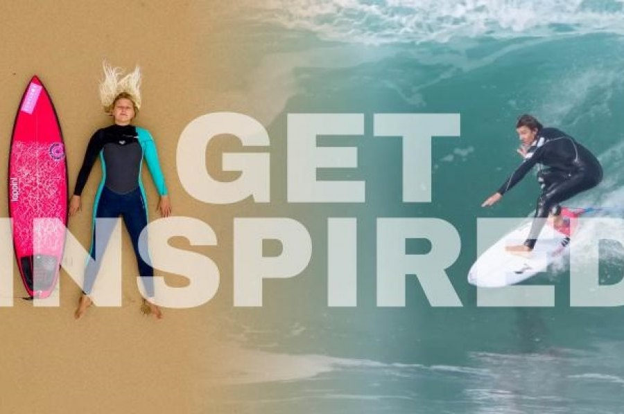 EMILIE UTTRUP E ARRAN STRONG EM EVENTO NA BOARDRIDERS